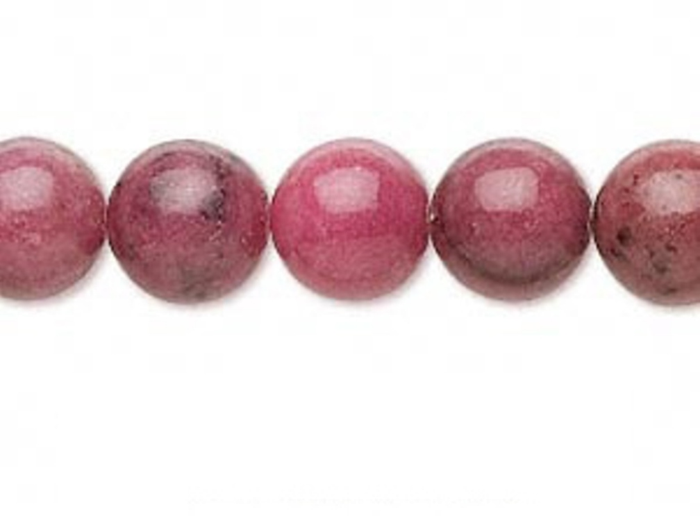 Perle rhodonite Ø 6mm A L UNITE P02